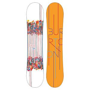 Snowboard Burton Feelgood Smalls Girls Snowboard - The Burton Feelgood Smalls is for the dedicated gromette. The Feelgood Smalls features Burton's Flying V profile which has rocker in between and camber underfoot. Flying V offers freestyle feel without sacrificing edge hold. Twin shape rides equally well switch. Extruded base is low maintenance and super easy to repair in case your gromette gets real rad on the rails. Pro-tip greatly reduces the swing weight so your little shred princess can spin one out. The Feelgood Smalls is a versatile, fun snowboard for the serious gromette shredder. . Actual Turn Radius @ Specified Length: 6.39m (@135cm), Base Name: Extruded, Core Name: Super Fly, Snowboard Best Use: All-Mountain Freestyle, Waist Width: 233mm (@135cm), Stance Width: 430-455mm, Stance Setback: Centered, Special Features: Flying V Rocker, Rocker Profile: Camber/Rocker/Camber, Shape: Twin, Flex: Medium, Pipe Oriented: No, Board Width: Regular, Rocker Type: Flying V, Core Material: Wood, Construction Type: Sidewall Construction, Hole Pattern: Burton 3D, Magnatraction: No, Base Material: Extruded P-tex, Warranty: One Year, Skill Range: Intermediate - Advanced, Model Year: 2013, Product ID: 271636, Shipping Restriction: This item is not available for shipment outside of the United States., Gender: Girls, Skill Level: Intermediate, Model Number: 276099 130, GTIN: 0886057838908 - $179.93