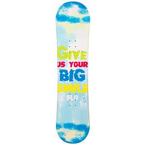 Snowboard SLQ Big Smile Blue Girls Snowboard - If the little girl just beginning her adventures into snowboarding, the SLQ Big Smile Blue Snowboard will help her gain confidence and the skills to truly tackle the mountain. This entry-level board has a camber profile which has great response and edge hold so she can learn how to make great turns. There's a little pop to it as well so if she wants, she can do some small jumps. This SLQ Big Smile Blue Girls Snowboard is great when you're tired of wasting money renting and you want a good value on a great board. . Recommended Use: All-Mountain, Rocker Profile: Camber, Shape: Directional, Flex: Soft, Pipe Oriented: No, Core Material: Wood, Construction Type: Cap Construction, Hole Pattern: Standard 4 Hole, Magnatraction: No, Warranty: One Year, Skill Range: Beginner - Intermediate, Product ID: 297020, Gender: Girls, Skill Level: Beginner - $99.99