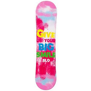 Snowboard SLQ Big Smile Pink Girls Snowboard - If the little girl just beginning her adventures into snowboarding, the SLQ Big Smile Pink Snowboard will help her gain confidence and the skills to truly tackle the mountain. This entry-level board has a camber profile which has great response and edge hold so she can learn how to make great turns. There's a little pop to it as well so if she wants, she can do some small jumps. This SLQ Big Smile Pink Girls Snowboard is great when you're tired of wasting money renting and you want a good value on a great board. . Recommended Use: All-Mountain, Rocker Profile: Camber, Shape: Directional, Flex: Soft, Pipe Oriented: No, Core Material: Wood, Construction Type: Cap Construction, Hole Pattern: Standard 4 Hole, Magnatraction: No, Base Material: Extruded P-tex, Warranty: One Year, Skill Range: Beginner - Intermediate, Product ID: 297021, Gender: Girls, Skill Level: Beginner - $129.99