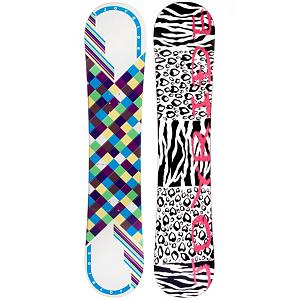 Snowboard JoyRide Checkers White Blue Girls Snowboard - The JoyRide Checkers White Blue Snowboard is perfect for the little girl ready to tackle her first board. Its camber profile ensures she can have a little more control and edge hold so she can get used to the turns you need to make when traversing the mountain. It also has a little pop so she can try out some tricks that she has seen you do and wants to emulate. A great entry-level board to help increase her confidence and skill level, the JoyRide Checkers White Blue Snowboard is a cute and fun option. . Skill Level: Beginner, Gender: Girls, Warranty: One Year, Base Material: Extruded P-tex, Magnatraction: No, Hole Pattern: Standard 4 Hole, Construction Type: Cap Construction, Core Material: Wood, Rocker Type: No, Flex: Soft, Rocker Profile: Camber, Product ID: 297050, Board Width: Regular, Pipe Oriented: No, Recommended Use: All-Mountain, Skill Range: Beginner - Intermediate, Shape: Directional - $99.95