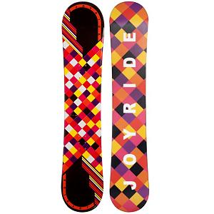 Snowboard JoyRide Checkers Black Girls Snowboard - The JoyRide Checkers Black Snowboard is perfect for the little girl ready to tackle her first board. Its camber profile ensures she can have a little more control and edge hold so she can get used to the turns you need to make when traversing the mountain. It also has a little pop so she can try out some tricks that she has seen you do and wants to emulate. A great entry-level board to help increase her confidence and skill level, the JoyRide Checkers Black Snowboard is a cute and fun option. . Recommended Use: All-Mountain, Rocker Profile: Camber, Shape: Directional, Flex: Soft, Pipe Oriented: No, Board Width: Regular, Core Material: Wood, Construction Type: Cap Construction, Hole Pattern: Standard 4 Hole, Magnatraction: No, Base Material: Extruded P-tex, Warranty: One Year, Skill Range: Beginner - Intermediate, Product ID: 297052, Gender: Girls, Skill Level: Beginner - $79.91