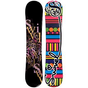 Snowboard Swivler Letters Black Girls Snowboard - Your little girl is growing up, no longer playing with dolls, make-up, and having tea parties. Her focus as switched to snowboarding and that means she needs a snowboard. The Swivel Letters Black snowboard is perfect for any girl learning to snowboard. Cap or sandwich construction makes the board lightweight and easy to turn. A Camber profile gives the riders more control, easier to make toe-side and heel-side turns which are the basics of snowboarding. Camber provides amazing edge hold on icy and all weather conditions. A Camber profile gives the Swivel Letters Black an easy learning curve for any true beginner or seasoned rider. . Recommended Use: All-Mountain Freestyle, Rocker Profile: Camber, Shape: Directional Twin, Flex: Medium, Board Width: Regular, Core Material: Wood, Construction Type: Cap Construction, Hole Pattern: Standard 4 Hole, Base Material: Extruded P-tex, Warranty: One Year, Skill Range: Beginner - Intermediate, Product ID: 297203, Gender: Girls, Skill Level: Beginner - $99.99