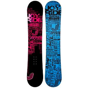Snowboard For the young lady in your life who wants to learn the fun of snowboarding, check out the JoyRide Text Pink Rocker Snowboard.  It's a great entry-level board for any young girl so she can learn the basics.  Today she's your little girl holding onto your hand and tomorrow she will be challenging you to another race-to-the-chairlift.   With her very own ride, she will pick up the skills and love every moment she can be on the slopes with her very own snowboard.  Plus you can avoid the rental lines and additional costs so you can all head to the lifts, or tow rope, and head up.  The Text Pink is a very forgiving board making it easier to learn on and has a rocker profile which will make floating in soft powder easier and more controllable.  Soft and forgiving, the JoyRide Text Pink Rocker Snowboard is fun for any beginner trying to get the skills and confidence to graduate from the easy greens.  Base Graphics Are Assorted,  Snowboard Best Use: All-Mountain, Rocker Profile: Rocker, Shape: Directional, Flex: Soft, Pipe Oriented: No, Board Width: Regular, Core Material: Wood, Construction Type: Cap Construction, Hole Pattern: Standard 4 Hole, Magnatraction: No, Base Material: Extruded P-tex, Warranty: One Year, Skill Range: Beginner - Advanced Intermediate, Product ID: 297439, Gender: Girls, Skill Level: Beginner, Model Number: 274 SB 12 - $99.99