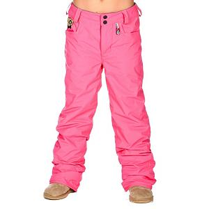 Snowboard Volcom Tweet Insulated Girls Snowboard Pants - The Tweet Insulated Girls Snowboard Pants by Volcom is a simple, standard snowboard pant that is insulated to keep your girl warm on the coldest of winter days. It's highly breathable and waterproof to ensure that no wintry elements seep inside while remaining your child has the ability to not be overwhelmed with the bulk of insulation. One of the most beneficial features is its Grow-Tech - it allows you to add length to the garment so that you won't have to spring for another pant next year. Critically taped seams and boot gaiters with a lace hook will keep out snow and moisture. If you're looking for a pair of snowboard pants that won't break the bank but gets the job done, check out the Volcom Tweet Insulated Girls Snowboard Pants. Features: Velcro Closure on all pockets, Custom Volcom Flowers Embroidery. Exterior Material: V-Science Oxford, Softshell: No, Insulation Weight: 80gm, Taped Seams: Critically Taped, Waterproof Rating: 5,000mm, Breathability Rating: 5000g, Full Zip Sides: No, Thigh Zip Venting: Yes, Suspenders: None, Articulated Knee: No, Warranty: One Year, Race: No, Waterproof: Moderately Waterproof (5000mm-19,999mm), Breathability: Moderate Breathability (4000g-8999g), Use: Snowboard, Type: Insulated, Cut: Regular, Lining Material: 80gm Poly Insulation, Waist: Adjustable, Pockets: 1-2, Model Year: 2013, Product ID: 290675 - $69.95