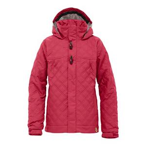 Snowboard Burton Dulce Girls Snowboard Jacket - If you have a gromette, then you need to seriously consider the Burton Girl's Dulce Snowboard Jacket. If not, well then, it's not your loss... it's her's. The DRYRIDE Durashell 2-Layer coated fabric with 10,000mm waterproofing will keep your little shred princess nice and warm. The 10,000g breathability allows perspiration to escape. Thermacore insulation [120g body, 120g sleeves, 80g hood] will keep the gromette nice and warm during those cold sessions. She's feelin' a little hot? Just open the pit zips allows the breeze in to cool off the underarms. Burton's Room-to-Grow system grows with your child so you can count on longevity. Let's not forget one important feature... the Dulce looks good. Features: Mesh-Lined Pit Zips, Pow Grip - Prevents Snow-Packed Sleeves. Waterproof Rating: 10,000mm, Breathability Rating: 10,000g, Hood Type: Fixed, Pit Zip Venting: Yes, Powder Skirt: Yes, Warranty: One Year, Battery Heated: No, Waterproof: Mild Waterproofing (5,001 - 10,000mm), Breathability: Mild Breathability (5,001 - 10,000g), Cuff Type: Velcro, Wrist Gaiter: No, Waterproof Zippers: No, Cinch Cord Bottom: Yes, Model Year: 2012, Product ID: 240857, Shipping Restriction: This item is not available for shipment outside of the United States., Model Number: 253682-387S, GTIN: 0885197872582, Insulator: No, Insulation Type: Synthetic, Length: Medium, Jacket Fit: Regular, Type: Insulated, Rain Jacket: No, Race: No, Use: Snowboard, Hood: Yes, Goggle/Sunglasses Pocket: No, Electronics Pocket: No, Pockets: 4-5, Taped Seams: Fully Taped, Insulation Weight: 120g Body, 120g Sleeves, 80g Hood, Softshell: No, Exterior Material: DRYRIDE Durashell 2-Layer Coated Fabric - $69.95