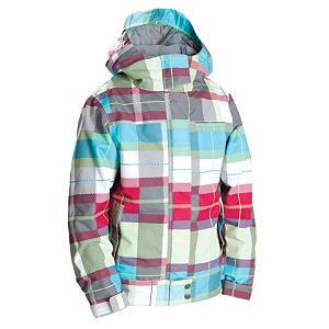 Snowboard 686 Smarty Chloe Girls Snowboard Jacket - Moms, get out your wallets - the second you're little girl sees the 686 Chloe 3-in-1 Insulated Snowboard Jacket, she'll start turning herself blue holding her breath until you click 'Buy'. Part of the Smarty Series, the Chloe is perfect for mountain weatherproofing and style. The Chloe features Infidry-8 which offers good weather protection for most winter conditions. With an 8k waterproof rating and a 5k rating in breathability, parents can be confident that even young ones learning to snowboard, who frequently land in the snow, will stay dry and not chill themselves to the bone. But what makes the Chloe jacket such an important wintertime piece is the removable microfleece liner. When the weather is pleasant, she can wear the shell alone with it's perfect 40g of insulation or for chilly, overcast conditions, she can add on the insulated removable liner for increased warmth. With critically taped seams, 686's Youth Evolution growth system which can extend the sleeves up to 1.5 inches and an adjustable powder skirt with a pant-connect interface, the Chloe jacket is quite possibly the cold weather chameleon your young one needs for her on-and-off mountain adventures! Features: Weather-guard raingutter hood brim, Pant to Jacket connection points. Exterior Material: Print on Poly Peached Oxford, Insulation Weight: 40 Grams, Taped Seams: Critically Taped, Waterproof Rating: 8,000mm, Breathability Rating: 5,000g, Hood Type: Fixed, Pit Zip Venting: No, Powder Skirt: Yes, Warranty: One Year, Use: Snowboard, Battery Heated: No, Race: No, Type: 3-in-1 Jacket, Cut: Regular, Length: Medium, Insulation Type: Fleece, Waterproof: Moderately Waterproof (5000mm-19,999mm), Breathability: Moderate Breathability (4000g-8999g), Cuff Type: Elastic, Wrist Gaiter: No, Waterproof Zippers: No, Cinch Cord Bottom: Yes, Model Year: 2012, Product ID: 243349, Insulator: No, Tall: No, Rain Jacket: No, Hood: Yes, Goggle/Sunglasses Pocket: No, Electronics P - $69.95