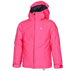 Snowboard Volcom Bird Insulated Girls Snowboard Jacket - The Volcom Bird Insulated Girls Snowboard Jacket is packed full of features that both you and your daughter love. It's breathable and waterproof, the necessities. Insulated with Poly Fill, so she will stay warm even on the coldest days. A Super Suede Chin Guard ensures that as she moves his head back and forth throughout the day she won't get a rash on her chin. If your daughter is showing up everyone in the park and is warming up under all that insulation she can simply unzip the mesh-lined zippered vents and cool down. The hood is global regulated for safety also helmet compatible so she can keep the full warmth of the hood and still have the protection of the helmet. The warm and comfortable Volcom Bird Insulated Snowboard Jacket will surely last your boy season after season. Features: Mesh Lined Zippered Vents, Stone Ticket Ring, Jamie Lynn Featured Artist. Exterior Material: V-Science Oxford, Insulation Weight: 100gm Poly Fill, Taped Seams: Critically Taped, Waterproof Rating: 5,000mm, Breathability Rating: 5,000g, Hood Type: Fixed, Pit Zip Venting: No, Pockets: 1-3, Electronics Pocket: No, Goggle/Sunglasses Pocket: No, Powder Skirt: Yes, Hood: Yes, Warranty: One Year, Use: Snowboard, Battery Heated: No, Race: No, Type: Insulated, Cut: Regular, Length: Medium, Insulation Type: Synthetic, Waterproof: Moderately Waterproof (5000mm-19,999mm), Breathability: Moderate Breathability (4000g-8999g), Cuff Type: Velcro, Wrist Gaiter: No, Waterproof Zippers: No, Cinch Cord Bottom: No, Insulator: No, Model Year: 2013, Product ID: 290667 - $69.95