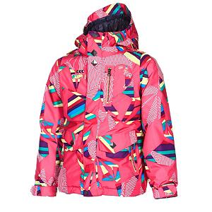 Snowboard Volcom Penny Insulated Girls Snowboard Jacket - The Volcom Girls Penny Insulated Jacket is going to turn some heads when your daughter rips by everyone. Amazing detail with pyramid studs and broken heart patch designs give this jacket a one-of-kind look and feel. One of the most beneficial features is its Grow-Tech - it allows you to add length to the garment so that you won't have to spring for another jacket next year. If your daughter is showing up everyone in the park and is warming up under all that insulation and her Sherpa lining, she can simply unzip the mesh-lined zippered vents and cool down. The hood is global regulated for safety also helmet compatible so she can keep the full warmth of the hood and still have the protection of the helmet. Also there is a peripheral hood adjustment which is another step in Volcom drive for global safety regulations, allows for riders to adjust there peripheral by lifting the velcro stone and making adjustments with the tabs as necessary. Zip Tech makes it so you can zip into the jacket so you don't have the wet and cold snow freezing you up as it seeps under your clothing. The Girls Penny Jacket is worth more then what its name is. Features: Super Suede Chin Guard, Mesh Lined Zippered Vents, Brushed Tricot Lined Handwarmers, Noise Pocket, Stone Ticket Ring. Exterior Material: V-Science Oxford, Insulation Weight: 80gm Poly Fill, Taped Seams: Critically Taped, Waterproof Rating: 10,000mm, Breathability Rating: 10,000g, Hood Type: Fixed, Pit Zip Venting: Yes, Powder Skirt: Yes, Warranty: One Year, Battery Heated: No, Race: No, Cut: Regular, Length: Medium, Insulation Type: Synthetic, Waterproof: Moderately Waterproof (5000mm-19,999mm), Breathability: High Breathability (9000g-15,000g), Cuff Type: Velcro, Wrist Gaiter: No, Waterproof Zippers: No, Cinch Cord Bottom: No, Model Year: 2013, Product ID: 290683, Insulator: No, Type: Insulated, Use: Snowboard, Hood: Yes, Goggle/Sunglasses Pocket: No, Electronics Pocket: Yes, Pocket - $99.92