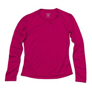 Snowboard Hot Chillys Pepperskin Jr Girls Long Underwear Top - The Hot Chillys Pepperskins Jr Long Underwear Top has a crewneck and is made with microfiber MTF, Moisture Transfer Fibers. The polyester yarns incorporated in the Pepperskins Long Underwear are for comfort and warmth. This soft, cottony-feeling garment offers a relaxed fit with anatomical design to allow for freedom of movement. . Fit: Loose, Warranty: One Year, Material: Synthetic, Weight: Light, Type: Top, Neck: Crew, Model Year: 2013, Product ID: 269082 - $25.00
