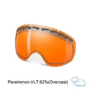 Snowboard Oakley Crowbar Goggle Replacement Lens 2013 - The Crowbar Replacement Lens provides 100% UV protection from harmful rays while reducing glare and offers a balanced light transmission for improved vision. They are made from a dual vented pure Plutonite material with unsurpassed impact protection and unbeatable clarity while having been treated with a specially formulated permanent coating to resist fog buildup under any circumstances. The Persimmon performs best under overcast cloudy conditions with a 62% rate of transmission. . Category: Replacement Goggle Lenses, Spherical Lens: Yes, Polarized: No, Photochromatic: No, Frame Size: Fits Most Faces, Lens Shape: Spherical, Lens Coating: n/a, Has Fan: No, Model Year: 2013, Product ID: 146692, Headphones Included: No - $45.00