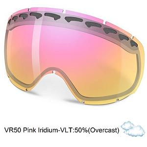 Snowboard Oakley Crowbar Goggle Replacement Lens 2014 - The Crowbar Replacement Lens provide 100% UV protection from harmful rays while the Iridium coating reduces glare and offers a balanced light transmission for improved vision. They are made from a dual vented pure Plutonite material that has unsurpassed impact protection with unbeatable clarity while having been treated with a specially formulated permanent coating to resist fog buildup under any circumstances. The VR50 Pink Iridium performs best under partly sunny conditions or in overcast clouds with a 41% rate of transmission. . Category: Replacement Goggle Lenses, Spherical Lens: Yes, Polarized: No, Photochromatic: No, Frame Size: Fits Most Faces, Lens Shape: Spherical, Lens Coating: n/a, Has Fan: No, Model Year: 2014, Product ID: 199273, Headphones Included: No - $75.00