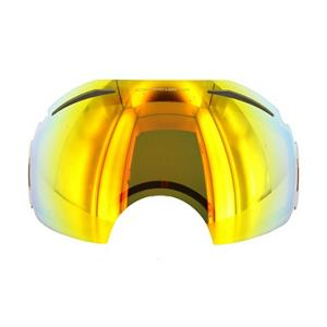 Snowboard Oakley Airbrake Fire Iridium Goggle Replacement Lens 2014 - The Airbrake Replacement Lens provides 100% UV protection from harmful rays while reducing glare and offers a balanced light transmission for improved vision. They are made from a dual vented pure Plutonite material with unsurpassed impact protection and unbeatable clarity while having been treated with a specially formulated permanent coating to resist fog buildup under any circumstances. The Fire Iridium Lens performs best under full sunshine conditions with a 16% rate of transmission. . Race: No, Category: Adult, OTG: No, Comes w/ Case: No, Fog Fan: No, Frame Size: Large, Spherical Lens: Yes, Polarized: No, Photochromatic: No, Rubberized Strap: N/A, Helmet Compatible: N/A, Frame Size: Fits Most Faces, Lens Shape: Spherical, Lens Coating: n/a, Has Fan: No, Model Year: 2014, Product ID: 247787, Headphones Included: No - $75.00