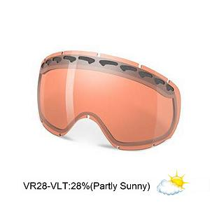 Snowboard Oakley Crowbar Goggle Replacement Lens 2013 - The Crowbar Replacement Lens provide 100% UV protection from harmful rays while the Iridium coating reduces glare and offers a balanced light transmission for improved vision. They are made from a dual vented pure Plutonite material that has unsurpassed impact protection with unbeatable clarity while having been treated with a specially formulated permanent coating to resist fog buildup under any circumstances. The VR28 performs best in mixed conditions of sun and clouds with a 23% rate of transmission. . Race: No, Category: Replacement Goggle Lenses, OTG: No, Comes w/ Case: No, Fog Fan: No, Frame Size: Medium, Spherical Lens: Yes, Polarized: No, Photochromatic: No, Rubberized Strap: No, Helmet Compatible: No, Frame Size: Fits Most Faces, Lens Shape: Spherical, Lens Coating: n/a, Has Fan: No, Model Year: 2013, Product ID: 280035, Headphones Included: No - $45.00