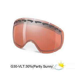 Snowboard Oakley Crowbar Goggle Replacement Lens 2013 - The Crowbar Replacement Lens provide 100% UV protection from harmful rays while the Iridium coating reduces glare and offers a balanced light transmission for improved vision. They are made from a dual vented pure Plutonite material that has unsurpassed impact protection with unbeatable clarity while having been treated with a specially formulated permanent coating to resist fog buildup under any circumstances. The G30 performs best in mixed conditions of sun and clouds with a 30% rate of transmission. . Race: No, Category: Replacement Goggle Lenses, OTG: No, Comes w/ Case: No, Fog Fan: No, Frame Size: Medium, Spherical Lens: Yes, Polarized: No, Photochromatic: No, Rubberized Strap: No, Helmet Compatible: No, Frame Size: Fits Most Faces, Lens Shape: Spherical, Lens Coating: n/a, Has Fan: No, Model Year: 2013, Product ID: 280037, Headphones Included: No - $75.00