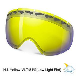 Snowboard Oakley Crowbar Goggle Replacement Lens 2014 - The Crowbar Replacement Lens provides 100% UV protection from harmful rays while reducing glare and offers a balanced light transmission for improved vision. They are made from a dual vented pure Plutonite material with unsurpassed impact protection and unbeatable clarity while having been treated with a specially formulated permanent coating to resist fog buildup under any circumstances. The High Intensity Yellow performs best under overcast clouds or fog and snow with an 81% rate of transmission. . Race: No, Category: Replacement Goggle Lenses, OTG: No, Comes w/ Case: No, Fog Fan: No, Frame Size: Medium, Spherical Lens: Yes, Polarized: No, Photochromatic: No, Rubberized Strap: No, Helmet Compatible: Yes, Frame Size: Fits Most Faces, Lens Shape: Spherical, Lens Coating: n/a, Has Fan: No, Model Year: 2014, Product ID: 69442, Headphones Included: No - $75.00