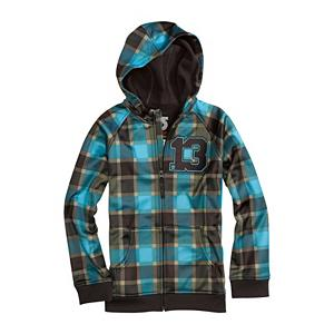 Snowboard Burton Bonded Kids Hoodie - The Burton Bonded Hoodie consists of a fabric that protects you, this Dryride Thermex full-zip fleece sweatshirt breathes and dries quickly, keeping you stoked, not soaking wet and sweaty. You can layer it up under a jacket during the midwinter or rock it solo the other three seasons. The Burton Bonded Hoodie is the ultimate high-tech hoodie for every occasion. Features: Dryride Thermex. Model Year: 2013, Product ID: 289612, Shipping Restriction: This item is not available for shipment outside of the United States., Model Number: 275686-444S, GTIN: 0886057806952, Water Resistant: Yes, Sleeve Type: Long Sleeve, Wicking Properties: Yes, Pockets: 1-2, Material: Synthetic, Type: Hoodies, Wind Protection: No, Closure Type: Full Zip Top, Battery Heated: No, Warranty: Lifetime, Category: Mid-Weight, Fleece Weight: Mid, Material: Dry ride Thermex - $24.96