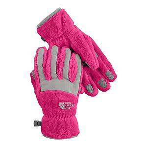 Snowboard The North Face Denali Thermal Girls Casual Girls Ski Gloves - Created by North Face, the Denali thermal girls Casual Gloves are made for junior outdoor individuals that want a classic looking pair of gloves that will are well insulated with high loft fleece for maximum warmth while on the slopes, in the park, skating on the lake or sledding on a much appreciated snow day. The 5 dimensional fit technology uses five measurements taken from a single index point at the heel of the hand, this pair of gloves has been built from the inside out to ensure a consistent size no matter what the use that this pair of gloves are intended for. Another feature is the radiametric articulation technology that uses a unique differential fabric pattern that produces built-in, natural articulation, mirroring the relaxed position of the hand while improving warmth and blood flow to your fingers keeping them comfortable and toasty warm all day long. The elastic wrists seal keeps out the cold and the unwanted snow while the synthetic gripper palms add durability and strength so you can grab your board or your ski poles over and over without tearing. This pair of Denali Thermal Junior Ski Gloves have built-in-class comfort, warmth, dexterity and design all wrapped into this one junior ski gloves just for girls. Features: Synthetic Gripper Palms, North Face Logo on Front Side of Gloves, Youth Specific Fit. Removable Liner: No, Material: Polyester High Loft Fleece with Nylon Taslan overlay, Warranty: Lifetime, Battery Heated: No, Race: No, Type: Glove, Use: Casual, Wristguards: No, Outer Material: Polyester, Fleece, Waterproof: No, Breathable: Yes, Pipe Glove: No, Cuff Style: Under the cuff, Down Filled: No, Model Year: 2012, Product ID: 230880, Shipping Restriction: This item is not available for shipment outside of the United States. - $18.99