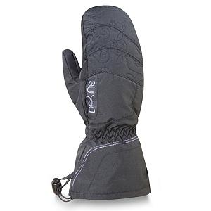 Snowboard Dakine Tracker Girls Ski Mittens - Keep your child's hands warm with the Dakine Tracker Girls Ski Mittens. The high loft insulation not only resists moisture but helps trap heat inside the mitten so that their fingers can remain cozy and warm throughout the day. To help keep their grips solid on ski poles, tow ropes and chairlifts, the palm has a synthetic palm reinforcement patch. A full length gauntlet can be worn either over or under the jacket sleeve to help keep the cold and snow out of the mitten. Warm, comfy and cozy, the Dakine Tracker Girls Ski Mittens are a great choice for the youngster heading out onto the slopes. . Removable Liner: No, Material: Nylon/Poly with DWR Treatment, Warranty: Lifetime, Battery Heated: No, Race: No, Type: Mitten, Use: Ski/Snowboard, Wristguards: No, Outer Material: Nylon, Waterproof: No, Breathable: Yes, Pipe Glove: No, Cuff Style: Under the cuff, Down Filled: No, Model Year: 2012, Product ID: 273481 - $19.95