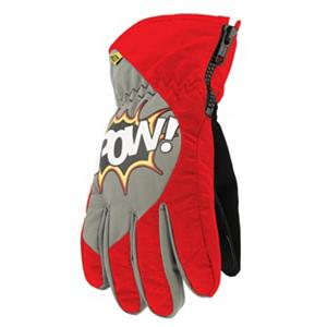Snowboard POW Grom Kids Ski Gloves - Every parent biggest concern with winter is, are there Childs hands going to be warm enough. Time to stop buying hand warmers and slip on the Pow Grom Glove. This glove is packed with warmth features that are going to feel like your holding onto a cup of hot coco all day. The shell of the Grom Glove is constructed with Sotina Nylon, which is a premium base DWR nylon material with waterproof and breathability properties of 20,000mm and 20,000g. Which as a result is going to keep your groms hands dry all day long while they play. 100g of Thinsulate insulation keeps there hands warm even in the coldest conditions. Let the Grom plays with the Pow Grom Glove. . Type: Glove, Use: Ski/Snowboard, Product ID: 292645, Model Year: 2013, Down Filled: No, Cuff Style: Over the cuff, Pipe Glove: No, Breathable: Yes, Waterproof: Yes, Outer Material: Nylon, Wristguards: No, Race: No, Battery Heated: No, Warranty: One Year, Material: Thinsulate, Removable Liner: No - $19.91