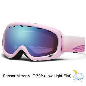 Snowboard Smith Gambler Girls Goggles - Designed to make sure Groms can see on the slopes the Gambler returns to bring sight and style to all young skiers. Using floating foam membranes at the temples the Gambler eliminates pressure from eyeglasses but still provides a strong seal for children that don't wear glasses. By reversing the strap connection to the frame the Gambler also fits seamlessly into helmets for comfortable coverage with or without. Dual Lenses with Airflow technology offer a great field of vision and protect against UVA and UVB light and combined with a Fog-X treatment keeping fogging to a minimum. Versatile, slick and stylish the Gambler is ready to support the next generation of skiing superstars. Features: Eyeglass Compatible. Race: No, Category: Girls, OTG: No, Comes w/ Case: No, Fog Fan: No, Frame Size: Small, Spherical Lens: No, Polarized: No, Photochromatic: No, Rubberized Strap: No, Helmet Compatible: Yes, Frame Size: Small, Lens Shape: Flat, Lens Coating: n/a, Has Fan: No, Model Year: 2013, Product ID: 280161, Headphones Included: No - $45.00