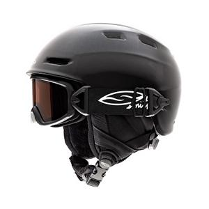Snowboard Smith Galaxy/Cosmos Kids Helmet - Never before have a goggle and helmet been so seamlessly integrated - fit, style, and performance all in one stellar package. The Smith Galaxy goggle and Cosmos Jr. helmet integration pack utilize Smith Tractor Beam Technology, powered by a patented Fidlock slide release buckle. This new system changes the goggle and helmet integration game and ensures a super easy, fully adjustable goggle-helmet attachment. Combining an auto-locating magnet with secure slide-release buckle technology, parents now have a great fitting, fully integrated goggle and helmet system that stay together long after they've taken them off. The Universe is now at the fingertips of your grom. . Certifications: ASTM F 2040, CE EN 1077:2007 CLASS B, Warranty: Lifetime, Gender: Kids, Race: No, Category: Half Shell, Audio: Not Compatible, Brim/Visor: No, Ventilation: Adjustable, Custom Fit Adjustment: Yes, Year Round Capable: No, Shell Construction: In Mold, Product ID: 281374, Model Year: 2013 - $54.99