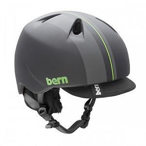 Snowboard Bern Nino Kids Helmet - With a Bern Nino Helmet your child's head will stay protected whether they're skiing on the mountain or inline skating in the park. The Zip Mold polycarbonate shell has liquid injected zipmold hard foam to ensure your child has a well protected head against any high impact. This makes it very lightweight too. The removable knit liner helps keep their heads warm in the winter and can be removed so they can stay cool in the summers. With its Bern style and design, the Bern Nino Helmet is a all-action sports helmet for the little athlete all year-round. . Certifications: CPSC, ASTM F 2040, EN1078, Warranty: One Year, Gender: Kids, Race: No, Category: Half Shell, Audio: Not Compatible, Brim/Visor: Yes, Ventilation: Fixed, Custom Fit Adjustment: No, Year Round Capable: Yes, Shell Construction: In Mold, Model Year: 2013, Product ID: 281574 - $49.90