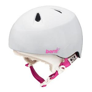 Snowboard Bern Nina Girls Helmet - With a Bern Nina Helmet your little girl's head will stay protected whether they're skiing on the mountain or inline skating in the park. The Zip Mold polycarbonate shell has liquid injected zipmold hard foam to ensure your child has a well protected head against any high impact hits. The Zipmold construction makes it very lightweight too. The removable knit liner helps keep their heads warm in the winter and can be removed so they can stay cool in the summers. With its Bern style and design, the Bern Nina Helmet is a all-action sports helmet for the little athlete all year-round. . Certifications: CPSC, ASTM F 2040 and EN1078, Warranty: One Year, Gender: Girls, Race: No, Category: Half Shell, Audio: Not Compatible, Brim/Visor: Yes, Ventilation: Fixed, Custom Fit Adjustment: No, Year Round Capable: Yes, Shell Construction: In Mold, Model Year: 2013, Product ID: 281628 - $49.90