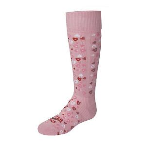 Snowboard Hot Chillys Heart Dance Medium Girls Ski Socks - The Youth Hot Chillys Heart Dance Girls Ski Socks offer great warmth, comfort and cute design without sacrificing quality. Made with soft, durable yarns and blended with MTF fibers to help transfer moisture away from the foot making these socks comfortable and long lasting. Hot Chillys feature hi-tech elements and a splash of fun that every girl will love wearing. . Battery Heated: No, Material: Synthetic, Type: Ski, Weight: Mid, Model Year: 2010, Product ID: 275317 - $18.00