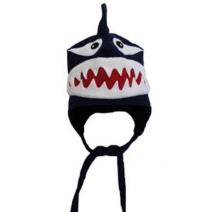 Snowboard 32 DEGREES Shark Toddlers Hat - The 32 Degrees Shark Toddler Hat is cozy and cute and perfect for any toddler that you want to keep warm when the temperatures drop. With its high-grade, anti-pill fleece, your child's head and ears will remain warm comfy under this soft hat. Handcrafted and sewn in the United States, this hat features a chin Velcro hook and loop closure so they will always wear the hat securely. The 32 Degrees Shark Toddler Hat also has an adjustable clip on the back so that you can customize the fit as your child begins to grow. . Warranty: Other, Battery Heated: No, Material: Fleece, Lined: No, Type: Crazy Hats, Model Year: 2013, Product ID: 272659 - $35.00