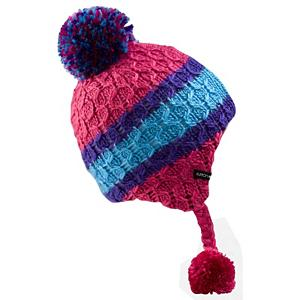 Snowboard Burton Listen Up Beanie Kids Hat - OK - Listen Up - The Burton Listen Up Beanie is all about cuteness, warmth, comfort and softness. The earflaps keep you cozy warm with a braided side that hangs down and ends with a tassel, bold stripes around the crown and a fuzzy pom to top it off. The pile sherpa fleece lining embraces you in a dreamy soft feel as it keeps the chilled winds from getting sneaking in. . Warranty: Lifetime, Battery Heated: No, Material: Synthetic, Lined: Yes, Type: Earflap, Model Year: 2013, Product ID: 289758, Shipping Restriction: This item is not available for shipment outside of the United States. - $25.00