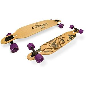 Snowboard Loaded Dervish Flex 2 Complete Longboard - The Loaded Dervish Complete Longboard was designed with a lower center of gravity and a torsionally stiff design, and built to hold an edge and maximize energy return. A drop-thru carver designed to work with most reverse kingpin geometry trucks and 70mm plus wheels. The dropthru design allows for easier pushing, more stability at speed, and easier sliding. It has a small flat nose and tail for manual and shovit tricks. The Dervish was designed and intended for speeds between 0 and 30 mph. The bamboo core pressed into concave and convex cambers for liveliness, responsiveness and high energy potential. . Bearing Type: ABEC 5, Wheel Size: 70mm, Truck Width: 180mm, Deck Width: 8.50in, Deck Length: 41.50in, Model Year: 2012, Product ID: 228936 - $322.00
