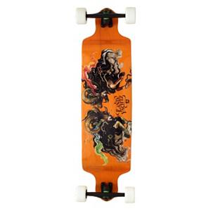 Snowboard Landyachtz Switch 37 Complete Longboard - The Landyachtz Switch 37 Longboard is a totally versatile board that lets you cruise, carve or just ride it in to work. It's lightweight and stiff thanks to the use of Canadian maple and the dropped riding platform offers stability and movement with ease. Equipped with Gnar Bars, you'll be able to wedge your feet in when cruising over rough terrain. You can never beat the graphics on a Landyachts board and the Switch 37 Longboard is no exception. . Bearing Type: Abec 7, Wheel Size: 76mm, Truck Width: 181mm, Deck Width: 9.75in, Deck Length: 37.25in, Model Year: 2013, Product ID: 275360 - $219.99