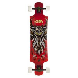 Snowboard Landyachtz Tomahawk Complete Longboard - For the freeriding longboarder, step on the Landyachtz Tomahawk Longboard and ride in style. Constructed with sturdy maple, you'll have a low flex along with a minimal drop in the platform so you can ride steady and strong as board picks up speed. The nose and tail kicks boost pop when you're performing your finest tricks and its symmetrical design allows you to the option of both regular and switch maneuvers. Great for freeriding in moderate speeds, the Landyachtz Tomahawk Longboard boasts a sweet graphic and killer construction. . Bearing Type: Abec 7, Wheel Size: 70mm, Truck Width: 181mm, Deck Width: 10.00in, Deck Length: 40.00in, Model Year: 2012, Product ID: 276104 - $251.99