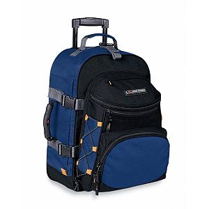 Snowboard High Sierra A.T. Gear Classic 22-Inch Wheeled Carry-On Bag - Seize the moment. An upright that can be used as a backpack, wheeled bag, or a daypack, High Sierra's versatile Wheeled Carry-On Backpack is the perfect companion to keep you going and geared up, wherever your inspiration takes you. Features: Backpack straps behind padded back panel., Removable front day pack with organizer., Exterior, dual-side compression straps., Adjustable tow strap to attach extra bags., Elastic shock cord secures extra gear.. Model Year: 2013, Product ID: 141159, Shipping Exclusion: This item is only available for shipment by UPS to the lower 48 United States. APO, FPO, PO BOX, Hawaii, and Alaska shipments may not be possible for this item. (Please call prior to purchase.), Special Order: This is a Special Order item, will be shipped from the manufacturer, and is not stocked in our warehouse. This item does not qualify for our Price Matching Policy. Order processing time may vary., Model Number: AT105-160, GTIN: 0040176170602 - $124.99
