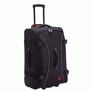 Snowboard Looking for a lightweight, durable and easy-to-transport piece of luggage? The Athalon Hybrid Traveler offers a great deal of features that make this handy-dandy bag into the perfect piece of luggage. Excellent for weaving throughout the airport or hotel lobbies, this traveler has In-Line Skate Wheels and a Telescoping Pull-Out Handle allowing the case to maneuver easily and Front Feet helping the bag stand on its own. Top, Front and Side Ergonomic Handles make lifting, carrying or shifting easy and comfortable; no worries about it hurting your palms. A mesh pocket on the inside helps for storing the items you might need to get at in a hurry. Packing is a breeze and transporting is a cinch, this durable Athalon Hybrid Traveler was made to take the abuses of traveling.  Size: 25'' x 15'' x 11'',  Front Feet,  In-Line Skate Wheels,  Wide Zippered Opening ,  Top, Front, and Side Ergonomic Handles,  High Contrast Orange Lining,  Interior Mesh Pocket,  Telescoping Pull-Out Handle,  GTIN: 0609529712618, Model Number: 7126Black, Special Order: This is a Special Order item, will be shipped from the manufacturer, and is not stocked in our warehouse. This item does not qualify for our Price Matching Policy. Order processing time may vary., Shipping Exclusion: This item is only available for shipment by UPS to the lower 48 United States. APO, FPO, PO BOX, Hawaii, and Alaska shipments may not be possible for this item. (Please call prior to purchase.), Christmas Delivery: This is a Special Order item and is not guaranteed for Christmas delivery., Product ID: 216974, Model Year: 2013, Luggage Style: Wheeled Luggage, Gear Volume: 67L, Interior Mesh Pocket: No, Size Dimensions: 25in x 15in x 11in, Exterior Pockets: Yes, Airplane Carry-On: No - $124.99