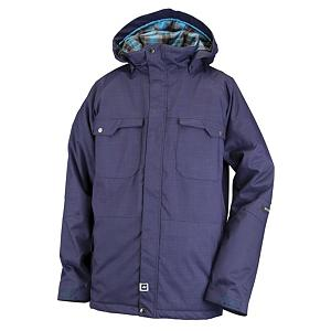 Snowboard Ride Ballard Mens Insulated Snowboard Jacket - Looking for a good day on the hill? Look no further, this Ballard Insulated Snowboard Jacket has the style along with the technology to provide you with just that. The Hydrapel technology along with the 10,000mm waterproof rating and 5,000g of breathability offers you the functioning needs for protection to keep you dry and warmth in any type of weather condition. The attached powder skirt with loops that snap to the pants along with the adjustable cuffs and the bottom one-handed draw cord adjustment will keep out the un-wanted snow from entering if you are a beginner to the more novice boarder. This classic fitting jacket has 80 grams of poly insulation with plaid flannel lining for the right amount of warmth just for you. There are front micro-fleece lined toaster pockets that will maximize the superior warmth and style that has been thoroughly thought out for you in this Ride Ballard pair of snowboard pants that have been designed just for men with the perfect balance of fashion and function. Features: Velvety Comfort Chin Guard and Inner Collar, Adjustable Cuffs, Ergonomic Adjustable Swivel Hood with Hidden Side Adjustments, Bottom One-Handed Draw Cord Adjustment, Lift Ticket Self-Fabric Loop, Front Micro-Fleece Lined Toaster Pockets, Key Clip in Front Pocket, Hydrapel with DWR (Durable Water Repellent) Finish. Length: Long, Tall: No, Insulation Type: Synthetic, Waterproof: Mildly Waterproof (1001mm-4999mm), Cut: Regular, Type: Insulated, Rain Jacket: No, Race: No, Use: Snowboard, Insulator: No, Hood: Yes, Cuff Adjustment: Yes, Goggle/Sunglasses Pocket: No, Electronics Pocket: Yes, Pockets: 6-7, Waterproof Rating: 10,000mm, Taped Seams: Critically Taped, Removable Liner: No, Insulation Weight: 60 Grams, Softshell: No, Collar Lining: Brushed Tricot, Lining: Yes, Exterior Material: Heather Herringbone, Polyester, Breathability: Moderate Breathability (4000g-8999g), Cuff Type: Velcro, Wrist Gaiter: No, Waterproof Zippe - $89.93