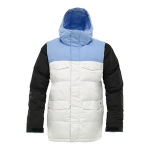 Snowboard Burton Deerfield Puffy Mens Insulated Snowboard Jacket - Oh boy oh boy. The boys and girls at Burton are still at it. The Burton Deerfield Puffy Mens Insulated Jacket suffers from multiple personality disorder. Zip off the sleeves and you have yourself one sick vest. But wait, that's not all! Reverse the sleeves and zip them back on and now you have a different colorway. I'd personally wear a different color on for each sleeve. The Burton Deerfield comes with DRYRIDE Durashell 2-Layer coated ripstop fabric ensures that you stay dry while you enjoy your snow surfing activities. Critically taped seams lock out the moisture. If the snow starts to fall, then flip up the Fulltime Contour Hood and continue the shred. Or just strap a mini umbrella to your head. Whatever floats your boat broski. Features: Venting Anti-Fog Goggle Pocket, Removable Waist Gaiter with Jacket-to-Pant Interface, Includes Men's Burton Jacket Features Package, Removable/Reversible Contrast Sleeves. Breathability Rating: 10,000g, Hood Type: Fixed, Pit Zip Venting: Yes, Pockets: 6-7, Electronics Pocket: Yes, Goggle Pocket: Yes, Powder Skirt: Yes, Hood: Yes, Warranty: One Year, Cuff Type: Velcro, Wrist Gaiter: No, Waterproof Zippers: No, Cinch Cord Bottom: Yes, Insulator: No, Model Year: 2012, Shipping Restriction: This item is not available for shipment outside of the United States., Product ID: 240950, Breathability: High Breathability (9000g-15,000g), Waterproof: Moderately Waterproof (5000mm-19,999mm), Insulation Type: Synthetic, Length: Long, Cut: Full, Type: Insulated, Rain Jacket: No, Race: No, Battery Heated: No, Use: Snowboard, Waterproof Rating: 10,000mm, Taped Seams: Critically Taped, Insulation Weight: 200g Body, 100g Sleeves, 40g Underarm, Softshell: No, Exterior Material: DRYRIDE Durashell 2-Layer Coated Ripstop Fabric - $109.93