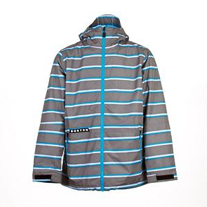 Snowboard Burton Faction Mens Insulated Snowboard Jacket - The Burton Faction Jacket is on a mission to keep you dry and comfortable all while keeping it sexy. DRYRIDE Durashell 2-Layer Brushed Plain Weave Fabric keeps you dry by locking out water while simultaneously pulling heat-robbing moisture from your skin and catapulting it out through the layer. The Burton Faction Jacket is mapped with 40G of 3M Thinsulate Insulation throughout to keep you warm and cozy. Critically Taped Seams blocks the water like a linebacker from sneaking in through the cracks. Is Ullr starting to show his strength off? Then just flip up the Fulltime Contour Hood and keep your head shielded. Drop your mp3 player in the audio pocket and shred to your Bieber jams. Grab the Burton Faction Jacket, then your buddies, and shred! . Exterior Material: DRYRIDE Duracell 2-Layer Brushed Plain Weave Fabric, Insulation Weight: 40 Grams, Taped Seams: Critically Taped, Waterproof Rating: 10,000mm, Breathability Rating: 10,000g, Hood Type: Fixed, Pit Zip Venting: No, Pockets: 1-3, Electronics Pocket: Yes, Goggle/Sunglasses Pocket: Yes, Powder Skirt: Yes, Hood: Yes, Warranty: One Year, Use: Snowboard, Battery Heated: No, Race: No, Type: Insulated, Cut: Regular, Length: Medium, Insulation Type: Synthetic, Waterproof: Moderately Waterproof (5000mm-19,999mm), Breathability: High Breathability (9000g-15,000g), Cuff Type: Velcro, Wrist Gaiter: No, Waterproof Zippers: No, Cinch Cord Bottom: Yes, Insulator: No, Model Year: 2013, Product ID: 288919, Shipping Restriction: This item is not available for shipment outside of the United States. - $119.93