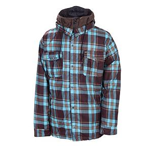 Snowboard 686 Reserved Axxe Mens Insulated Snowboard Jacket - As the temperatures start to turn cooler, this Reserved Axxe Insulated Jacket is the ideal choice to suit your needs for the fall temperatures and then moving on to those blistery winter days. The 100% polyester yarn dye plaid flannel material is appealing to the eyes as the material is to the body. This reliable and comfortable 686 snowboard jacket has an adjustable powder skirt to keep moisture and un-wanted snow out where it shouldn't be. The front dual chest pockets allow for easy access storage and the outdoor style for the individual who loves the outdoors. The 80 grams of polyfill insulation provides the warmth as you take to the park or the pipe with no worries. The shoelace hood draw string is convenient should the winds pick up and the flakes start to fall. Comfort, Durability and style never looked better. 686 has designed this Reserved Axxe Insulated Snowboard Jacket specifically for men with a fit just like a flannel shirt. This must have Axxe Jacket has a thermal rating of 7, is tricot lined, has 10,000mm of water permeability and 8,000g of breathability to keep you dry, warm and comfortable as you take part in your favorite winter activities all winter long. Features: Internal center front zipper flap with chin guard, Hand-warmer front hip pockets. Exterior Material: Poly yarn dye, plaid flannel, Insulation Weight: 80 Grams, Taped Seams: Critically Taped, Waterproof Rating: 10,000mm, Breathability Rating: 8,000g, Hood Type: Removable, Pit Zip Venting: Yes, Pockets: 8-9, Electronics Pocket: Yes, Goggle/Sunglasses Pocket: Yes, Powder Skirt: Yes, Hood: Yes, Warranty: One Year, Use: Snowboard, Battery Heated: No, Race: No, Type: Insulated, Cut: Regular, Length: Medium, Insulation Type: Synthetic, Waterproof: Moderately Waterproof (5000mm-19,999mm), Breathability: Moderate Breathability (4000g-8999g), Cuff Type: Velcro, Wrist Gaiter: Yes, Waterproof Zippers: Yes, Cinch Cord Bottom: Yes, Insulator: Yes, Mo - $119.95