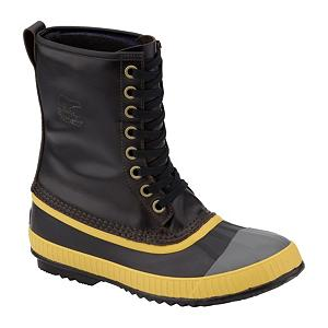 Snowboard Sorel Sentry Original Mens Boots - The Original Sentry boot was first introduced by Sorel in the early 1960's. Timeless designs never get old and this is one of them. Sorel has brought back the Sentry boot, this time on Sorel's 1964 Pac Shell that provides all of the benefits that you come to expect from Sorel. Seam-sealed waterproof construction guarantees you stay dry through the wet stuff. The full-grain leather upper is waterproof and flat out aesthetically appealing. Removable 9mm recycled felt liner in the 'original' blue color is super comfy. It's also washable which we all know is a benefit. Waterproof vulcanized rubber shell is super durable so get working. Sorel Sentry, the original classic is most definitely back. . Warranty: One Year, Waterproof: Yes, Material: Waterproof Full-Grain Leather Upper, Type: Boot, Insulated: No, Sole Material: Rubber, Model Year: 2013, Product ID: 291224 - $139.95