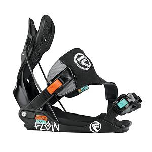 Snowboard Flow The Five SE Snowboard Bindings - The Five-SE is as versatile as it gets with the new HYBRID PowerCapStrap for unrestricted freedom yet powerful riding. The strap configuration along with the LockingSlapRatchet buckles allows SideEntry to complement Flow's proven SpeedEntry technology. The ModBack hiback-system has a responsive lower zone with Aluminum alloy heelcup and a very flexible TWEAK.6 topzone for maximum tweakfactor. The H-Series molded baseplate is engineered with a wider platform for stability and ease of entry and exit. No more jostling around to kick in. The Hybrid PowerCapStrap fuses the cap design with Flow's cap design. The toolless FWD-lean adjustment gives you the option to get more response out of your heelside if you so choose to wield that type of power. The Flow Five-SE is a mid flex binding that will help you treat the mountain like your park. Features: Toolless FWD-Lean Adjustment, Combi Mounting-Disk for 4x4 and 3HP. Skill Range: Advanced Intermediate - Expert, GTIN: 0845493030567, Model Number: FI12M6FISEBLK3M, Skill Level: Advanced Intermediate, Gender: Mens, Product ID: 280850, Model Year: 2013, Binding Compatibility: Standard 4 Hole and Burton 3D, Chassis Material: Plastic, Standard 4 Hole Compatible: Yes, Traditional Burton (3D) Compatible: Yes, ICS Channel Compatible: No, Canted Footbed: No, Quick Entry: Yes, Warranty: One Year, Toe Strap Style: Cap, Buckles: Aluminum, HighBack: Modular Highback, Flex: Medium, Strap Material: Hybrid PowerCapStrap, Recommended Use: All-Mountain Freestyle - $139.95