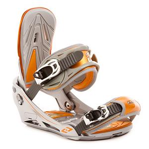 Snowboard Elan Neon Silver Orange Snowboard Bindings - For the rider that really knows how to ride in the park, the Elan Neon Black Snowboard Bindings are made for the advanced slayer of rails. The Neon Bindings are very responsive and boast cool feature such as Tool-Free Toe Ramp and High Back Adjustability so you can ride in comfort with a perfect fit. How about Toe and Heel Cushion Inserts for added comfort? Yeah, they have them. With the Elan Neon Black Snowboard Bindings you can expect versatility, performance and comfort. . Recommended Use: Freestyle, Strap Material: Reinforced Leather, Flex: Medium, HighBack: GF Reinforced Polyamide High Back, Buckles: ALU Buckles, Toe Strap Style: Traditional, Warranty: One Year, Quick Entry: No, Canted Footbed: No, ICS Channel Compatible: No, Traditional Burton (3D) Compatible: No, Standard 4 Hole Compatible: No, Chassis Material: Plastic, Skill Range: Intermediate - Advanced, Product ID: 294315, Gender: Adult, Skill Level: Intermediate - $119.99