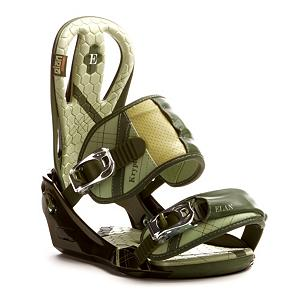 Snowboard Elan Krypton Green Snowboard Bindings - The Elan Krypton Snowboard Bindings are great for any freerider looking to carve up the mountain when the snows fall. Everything about this binding is adjustable so you can customize your comfort and performance. How does an adjustable toe ramp, strap positioning and forward lean sound? I personally think they sound pretty great. These featherweight bindings also have ankle strap paddings for the ultimate in comfort and are made of reinforced leather for durability and awesomeness. . Recommended Use: All-Mountain, Strap Material: Reinforced Leather, Flex: Medium, HighBack: Compact High Back, Buckles: ALU Buckles, Toe Strap Style: Traditional, Warranty: One Year, Quick Entry: No, Canted Footbed: No, ICS Channel Compatible: No, Traditional Burton (3D) Compatible: No, Standard 4 Hole Compatible: No, Chassis Material: Plastic, Binding Compatibility: Standard 4 Hole, Skill Range: Intermediate - Advanced, Product ID: 294325, Gender: Adult, Skill Level: Intermediate - $79.94