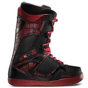 Snowboard ThirtyTwo TM-Two DGK Snowboard Boots 2013 - The TM-Two DGK is solid and supportive, and is the number one choice of ThirtyTwo team riders. Col-lab with Dirty Ghetto Kids to make this a one of kind boot this winter. The Level 4 Intuition liner is 100 percent heat-moldable and will give you foot a big bear hug and give you a premium fit. The Level 2 footbed provides support and cushion for when you are stomping big landings. Plus the STI Evolution Foam Outsole is super light and provides even more cushion for those big landings. If that is not enough cushioning for you then throw on top of all of that the System G2 Gel, which is not affected by the temperature and will not bottom out on impact. You will feel like you are cruising around with a couple of clouds on your feet. The control of this boot is ridiculous, combine a 3D molded tongue with the Tongue Tension System you are getting more leverage and less friction for a better closure and heel hold so when you move the boot moves that means no slop when you are riding. You can see why this is the boot of choice for the ThirtyTwo team riders. Features: System G2 Gel, 3D Molded Tongue. Material: Dual Density Intuition Ultralon Foam, Lacing Style: Traditional Lace, Recommended Use: All-Mountain Freestyle, Removable Liner: Yes, Flex: Stiff, Warranty: One Year, Intuition Liner: Yes, Brand Lacing Style: Traditional Lace, Skill Range: Advanced Intermediate - Expert, Model Year: 2013, Product ID: 271207, Gender: Mens, Skill Level: Advanced Intermediate - $179.95