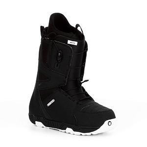Snowboard Burton Moto Snowboard Boots - The Burton Moto is arguably the most popular snowboard boot on the market. The Shrinkage Tech reduces the Ruler's footprint by an entire size shedding excess weight in the process. Speed Zone Lacing System gives you True Zonal Lacing Control and super quick entry and exit. That's less time lacing up and more time lapping the mountain. Dual-component outsole with EVA cushioning provides the dampening and landing pad for some air stomping fun. Rubber Ice Spikes provide much needed grip when you're walking on the snow. The Moto's soft flex thin profile 3D molded tongue is nice and forgiving so feel free to get jiggy. Total Comfort Construction makes the Moto super comfy straight out of the box. Step into the Moto and discover why more riders choose it than any other boot. . Material: Imprint 1 Liner, Lacing Style: Quick Lace, Recommended Use: Freestyle, Removable Liner: Yes, Flex: Soft, Warranty: One Year, Intuition Liner: No, Brand Lacing Style: Speed Zone, Skill Range: Intermediate - Advanced, Model Year: 2013, Product ID: 272062, Shipping Restriction: This item is not available for shipment outside of the United States., Gender: Mens, Skill Level: Intermediate - $109.95