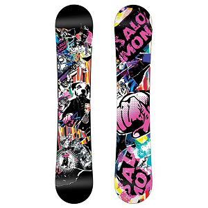Snowboard Salomon Riot Magnum Mens Snowboard 2011 - The Salomon Riot Magnum snowboard is a fast and poppy board that will shred all over the mountain. Featuring a durable core and medium flex the Riot will shred in any and all conditions. The medium flex allows beginners to advance their skill level by dialing in the flex while they command everything. The Riot Magnum is also a wide board which accommodates riders with bigger feet. The popster core profile will give you the pop that you desire and popster is similar to the kick tail of your skateboard. The Riot Magnum harnesses the power of the wood's natural snap and pop for more air time and higher ollies. The flat profile of the board creates catch-free spins and turns and good pop. Features: Effective Edge: 1250mm (@159cm). Base Name: Sintered, Core Name: Aspen Strong Core, Stance Width: 25.8m (@159cm), Stance Setback: Centered, Special Features: Rubber Rails Padding, Construction Type: Sidewall Construction, Base Material: Sintered P-tex, Warranty: Two Year, Skill Range: Intermediate - Advanced, Model Year: 2011, Product ID: 221574, Gender: Mens, Skill Level: Intermediate, Magnatraction: No, Hole Pattern: Standard 4 Hole, Core Material: Wood, Rocker Type: Flat Profile, Board Width: Wide, Pipe Oriented: No, Flex: Soft, Shape: Twin, Rocker Profile: Flat, Special Features: Rubber Rails, Waist Width: 260mm (@159cm), Recommended Use: All-Mountain Freestyle - $149.94