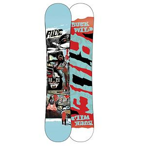Snowboard Ride Buck Wild Snowboard - The Ride Buck Wild Snowboard offers untamed hook-free feel. Designed for park riders hitting it hard and pushing the limits, Ride's ProRize twin shape has minimal rocker with a long, stable flat zone that extends well beyond the inserts into the tip and tail. Providing supreme landing control and pop, this wild Ride features 85A Slimewalls, Pop Rods 2.0 and Cleave Edge for a durable deck with amazing pop and built to lap the park like the pros. Features: 2x4 Inserts. Actual Turn Radius @ Specified Length: 7.9m (155cm), Base Name: Fusion 4000 Base, Core Name: Pop Rods 2.0, Stance Width: 533-559mm, Stance Setback: Centered, Rocker Profile: Rocker, Shape: Twin, Flex: Medium, Rocker Type: ProRize Rocker, Core Material: Wood with Carbon, Construction Type: Sidewall Construction, Hole Pattern: Standard 4 Hole, Magnatraction: No, Base Material: Sintered P-tex, Warranty: One Year, Skill Range: Advanced Intermediate - Expert, Model Year: 2012, Product ID: 234229, Shipping Restriction: This item is not available for shipment outside of the United States., Gender: Mens, Skill Level: Advanced Intermediate, Board Width: Regular, Pipe Oriented: Yes, Special Features: 85A Slimewalls, Waist Width: 252mm (155cm), Recommended Use: All-Mountain Freestyle - $299.95