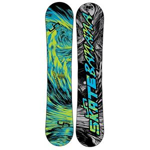 Snowboard Lib Tech Skate Banana BTX Snowboard 2013 - Award winning, rips everything, easy to ride, easy to turn, catch-free and forgiving, floats incredibly in powder, is unreal for jibbing, poppy freestyle fun, handcrafted in the USA, for first timers to pros The Lib Tech Skate Banana BTX is the original all terrain all conditions quiver killing freestyle banana/magne-traction series snowboard. The Banana rocker makes the Skate Banana loose and catch-free, able to press boxes, rails and jibs with the greatest of ease, and no-trouble turns when the rocker is pressed into the hardpack. The Skate Banana is slightly stiff at the tip and tail which increases pop and stability on big landings. The H-Pop core improves the pop and performance of the board and the power transfer internal sidewalls add to the pop as well. The Skate Banana also has too many awards to list. A great board all around for any rider on any mountain. . Actual Turn Radius @ Specified Length: 8.2m(@154cm), Base Name: Sintered Base, Core Name: H-Pop core with banana specific core profile, Recommended Use: All-Mountain Freestyle, Waist Width: 253mm(@154cm), Stance Width: 20-26in, Stance Setback: Centered, Special Features: Too many Awards to count, Rocker Profile: Rocker, Shape: Twin, Flex: Soft, Pipe Oriented: Yes, Board Width: Regular, Rocker Type: BTX, Core Material: Wood, Construction Type: Sidewall Construction, Hole Pattern: Standard 4 Hole, Magnatraction: Yes, Base Material: Sintered P-tex, Warranty: One Year, Skill Range: Advanced Intermediate - Expert, Model Year: 2013, Product ID: 270832, Shipping Restriction: This item is not available for shipment outside of the United States., Gender: Mens, Skill Level: Advanced Intermediate - $342.98