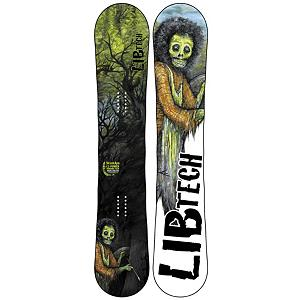 Snowboard Lib Tech Skunk Ape C2BTX Wide Snowboard - Lib Tech worked with oversized pow nuts from the NW to develop a tool for big guys to slay pow. Built with a stiffer flex, Columbian Gold Core and aggressive C2 Power Banana/Camber Combo; the Lib Tech Skunk Ape C2BTX Wide Snowboard rips through powder with baboon strength and increased pop like you have never seen before. The C2 Banana Rocker combination offers the best features of Banana Tech with rocker between your feet blended with a radial camber to contact points. This focuses pressure between your feet for easy turns, great edge hold on ice and max pressure to the tails for power end-to-end stability pop and control for float in powder in both directions, carving on hardpack and ice and a catch-free freestyle performance. The Skunk Ape has evolved into a big-foot, snow slaying monster of awesome. . Actual Turn Radius @ Specified Length: 8.25m(157W), Base Name: TNT Base, Core Name: Columbian Gold core, Waist Width: 268mm(157W), Stance Width: 20-26in, Stance Setback: Centered, Special Features: Basalt/Fiberglass Combo, Rocker Profile: Rocker with Camber, Shape: Directional Twin, Flex: Stiff, Pipe Oriented: No, Board Width: Wide, Rocker Type: C2BTX, Core Material: Wood, Construction Type: Sidewall Construction, Hole Pattern: Standard 4 Hole, Magnatraction: Yes, Base Material: Extruded P-tex, Warranty: One Year, Skill Range: Advanced - Pro, Model Year: 2013, Product ID: 270884, Shipping Restriction: This item is not available for shipment outside of the United States., Gender: Mens, Skill Level: Expert, Recommended Use: All-Mountain Freestyle - $379.95