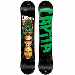 Snowboard Capita Outdoor Living Snowboard - The Capita Outdoor Living loves to be where its name comes from, outdoors. The Outdoor Living zero camber offers a stable feel of camber, while feeling looser and easier to ride like reverse camber. Re-forestation Certified Sustainable Wood Core has been re-forestation certified by a leading environmental agency for nature and habitat sustainability and made with a single species poplar grain for a smooth, consistent ride.30mm carbon fiber beams are laid in an X configuration between the inserts in the center of the board. The placement of these fiber beams increases power output for increased torsional response. The Outdoor Living snowboard can do everything you want it, whether in the park or free riding with friends, as long as its outdoors its happy. . Skill Range: Intermediate - Advanced, Model Year: 2013, Product ID: 275086, Gender: Mens, Skill Level: Intermediate, Model Number: 1210042, GTIN: 0842852100220, Warranty: Two Year, Base Material: Sintered P-tex, Magnatraction: No, Hole Pattern: Standard 4 Hole, Construction Type: Sidewall Construction, Core Material: Wood with Carbon, Rocker Type: Zero Camber, Board Width: Regular, Pipe Oriented: No, Flex: Medium, Shape: Twin, Rocker Profile: Flat, Special Features: Direct digital topsheet graphics, Stance Setback: Centered, Stance Width: 24-25in, Waist Width: 250mm(@156cm), Snowboard Best Use: Freestyle, Core Name: RFC Sustainable Core with Carbon X, Base Name: Sintered Speed Base, Actual Turn Radius @ Specified Length: 8.0m (@156cm) - $239.93